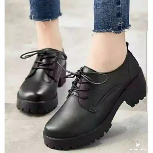 Ani R9 Sepatu Boot Korea Style Hitam 80ribu Bahan Silky Sol