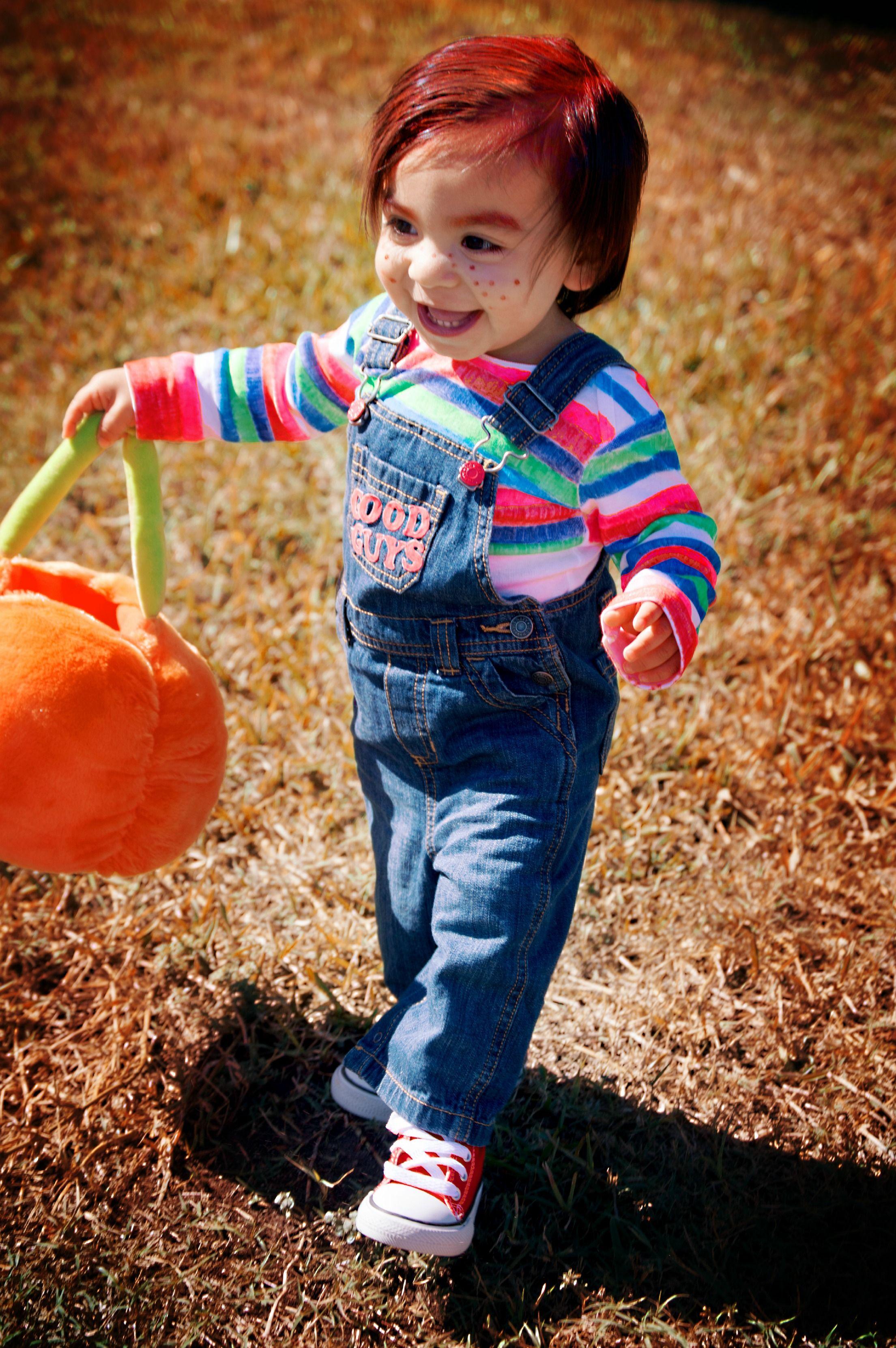 Chucky costume, baby Chucky, good guy doll Baby halloween