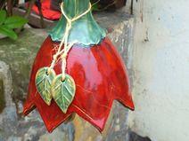 Blüten-Glocke xxl Blüte Gartenkeramik Windspiel