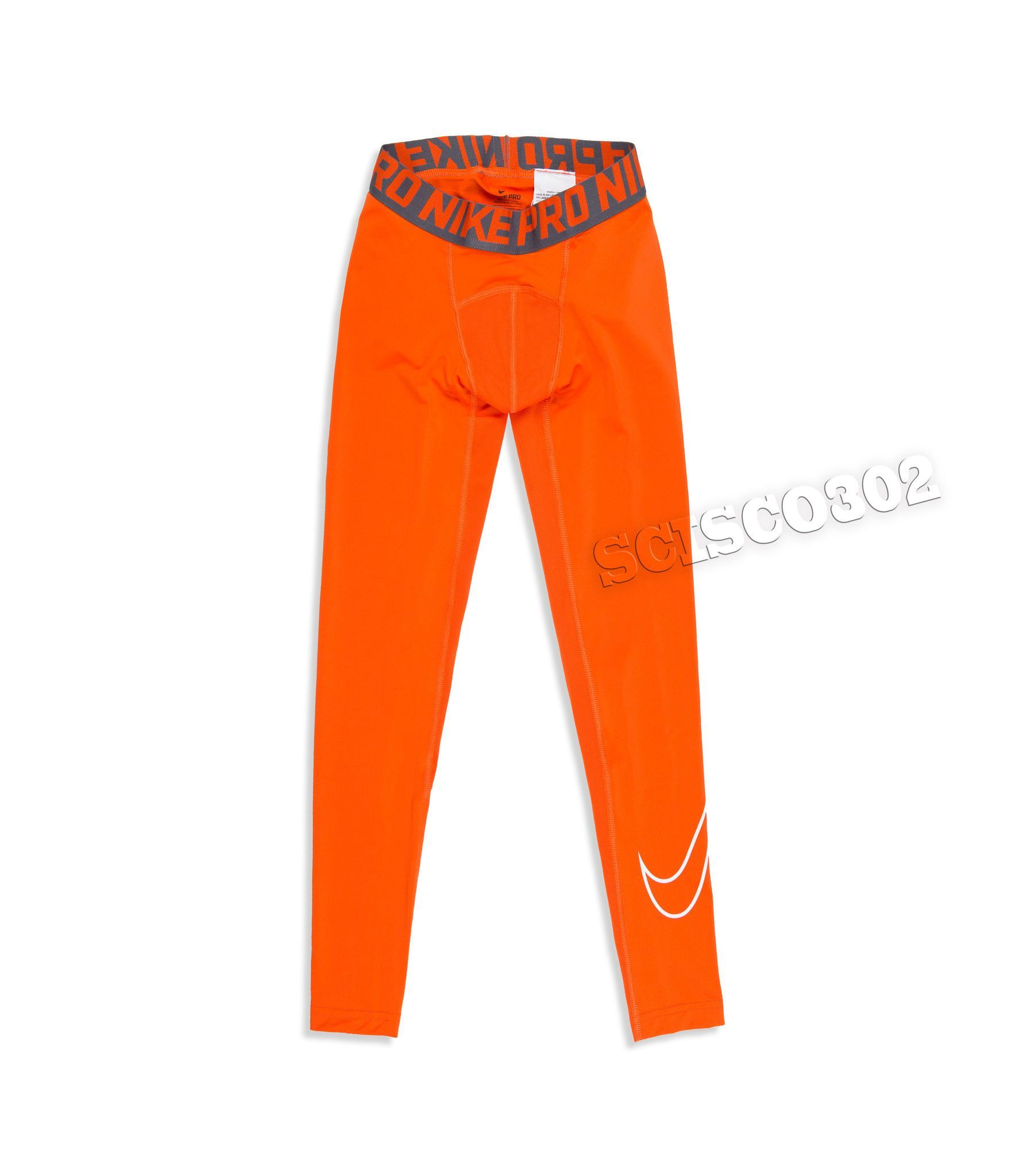 345f0faf5cb48 100% Original Nike Product Style: Boy's Nike Pro Combat Compression Tights  Leggings Color: Orange Material: 90% Polyester, 10% Spandex Nike Model  #726464 as ...