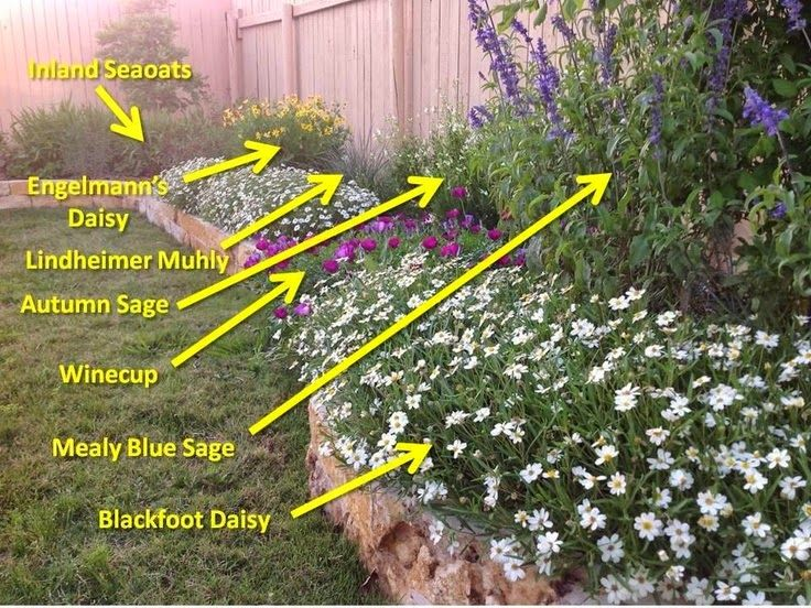 Backyard Ideas Texas creatively upcycled materials bring new life into this fort worth garden By Texas Wildscapesheat Drought Tolerant Garden That Attracts Birds Butterflies I Would Love To Do A Brick Or Stone Border In The Backyard