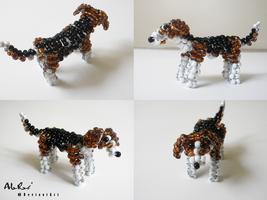 Beaded Beagle by Ala-Rai