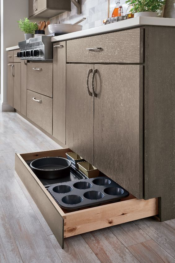 #Kitchen #cabinet #organization for every lifestyle! #Storage #ideas to make your life easier! Check out this hidden #drawer! #kitchencabinetsorganization
