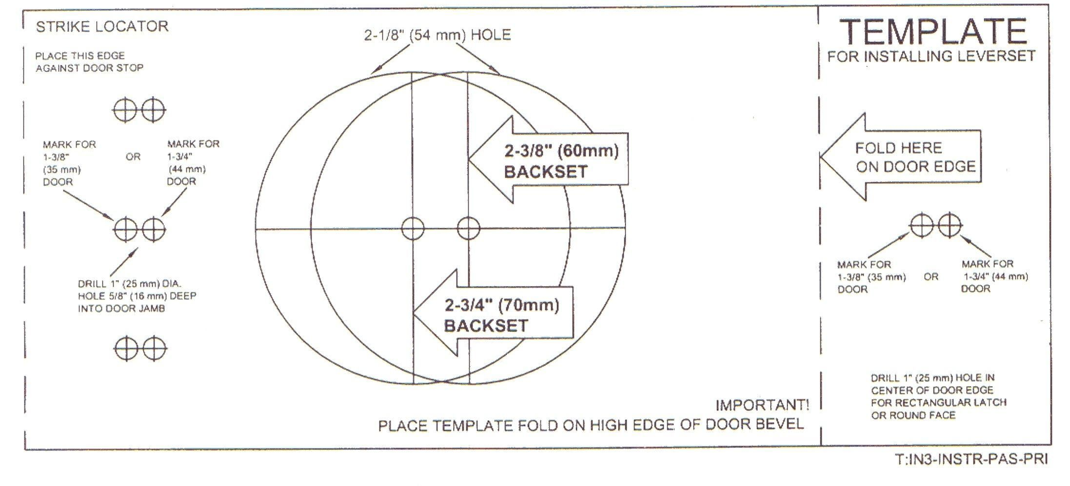 Door Knob Hole Template Google Search Ideas For The