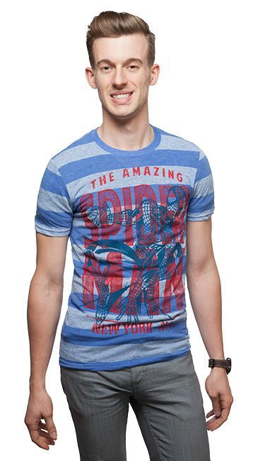 Amazing Spider-Man Rugby Striped T-Shirt - Superhero T-Shirt
