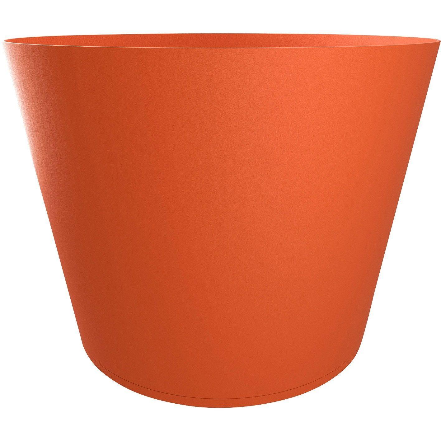 Bac Plastique Grosfillex Diam80 X H575 Cm Orange Brûlé In