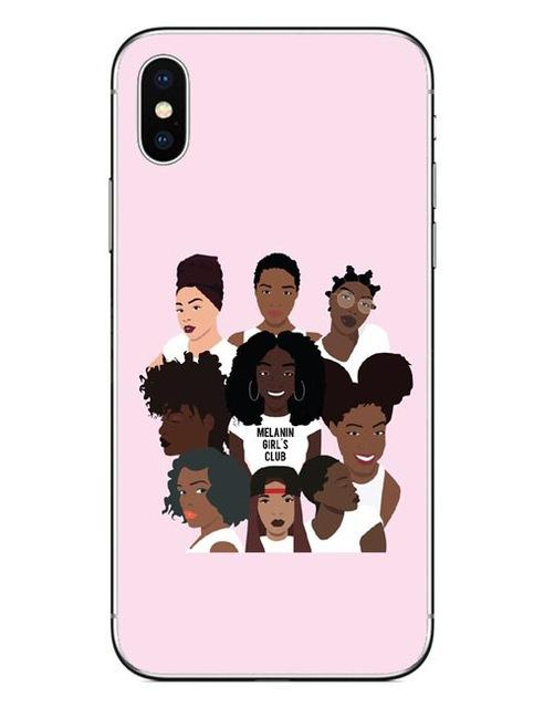 promo code 3c1e0 bb501 2bunz Melanin Poppin Aba Cases For iPhone X Fashion Black Girl Hard ...
