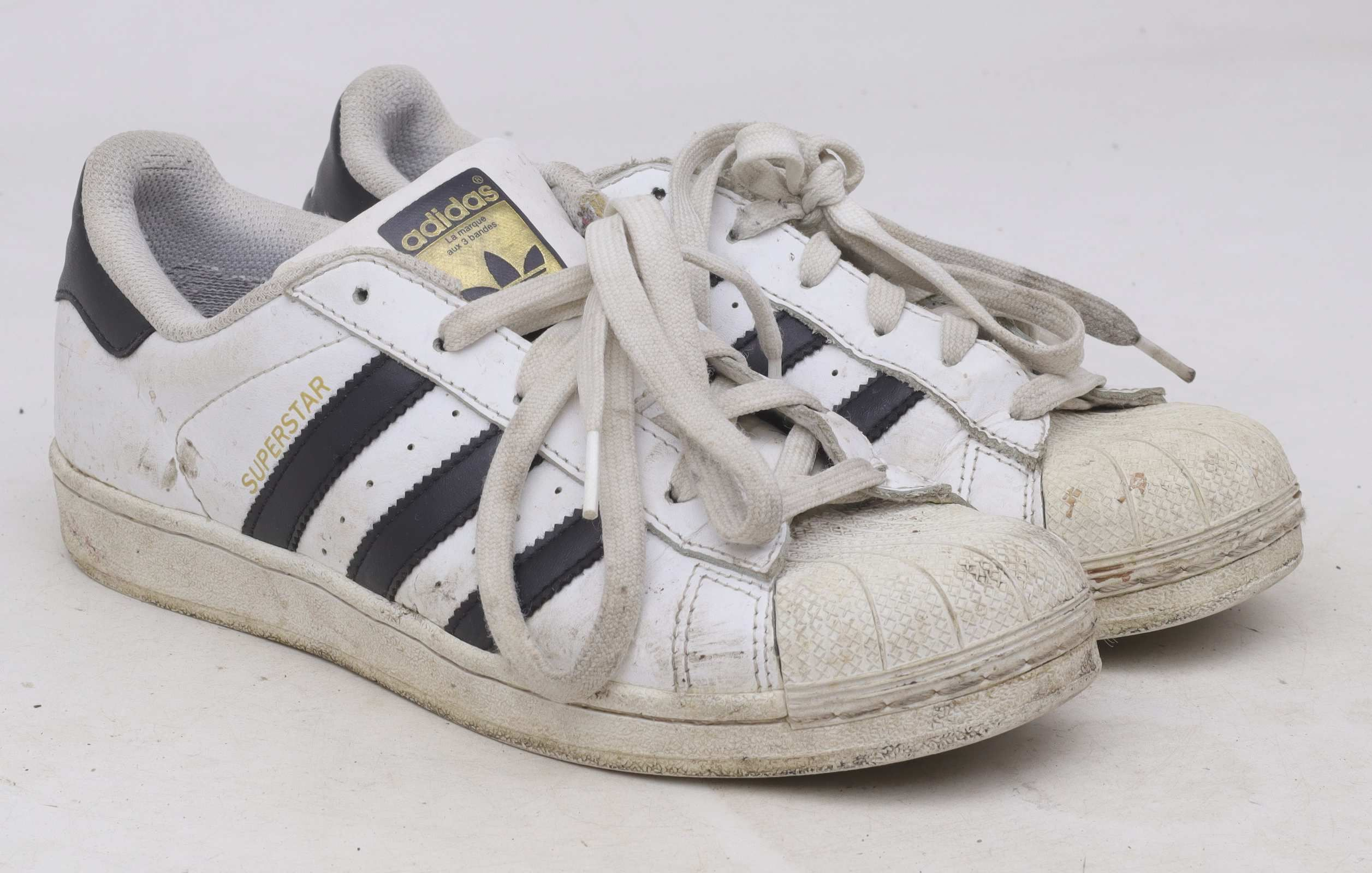 Adidas WomenS Uk Size 6 White Leather Superstar Trainers ...