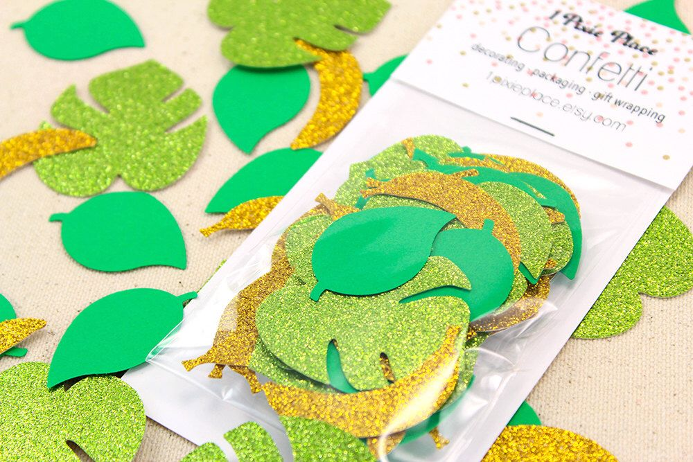 Jungle Safari Glitter Confetti - Table confetti, Party Decorations by 1PixiePlace on Etsy https://www.etsy.com/listing/243211329/jungle-safari-glitter-confetti-table