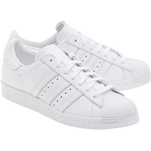ADIDAS ORIGINALS Superstar 80s White Black Flat leather