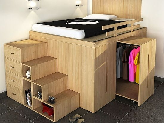 Wardrobe Bed By Ciniusarchiexpo Small Room Design Cool Loft Beds Wardrobe Bed