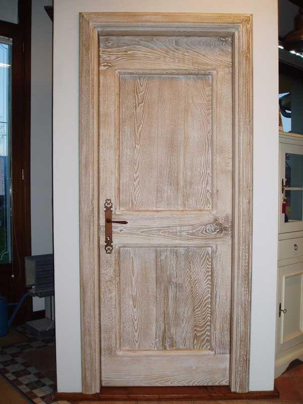 Falegnameria bensi porta in castagno antico di recupero - Porte colore avorio ...