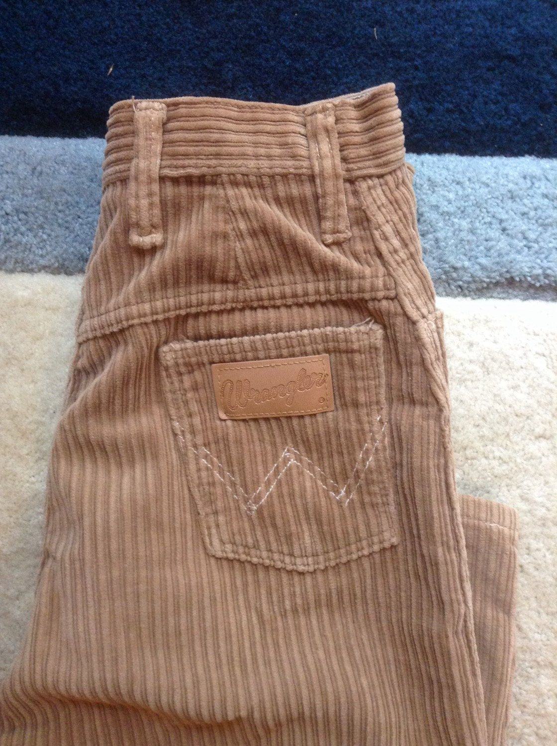 33119d94 Wrangler High Waist Light Brown Corduroy Pants / Misses Wrangler Corduroys  Size 13/14 / Womens Wrangler Straight Leg High Waisted Cords by  Traciesplace on ...