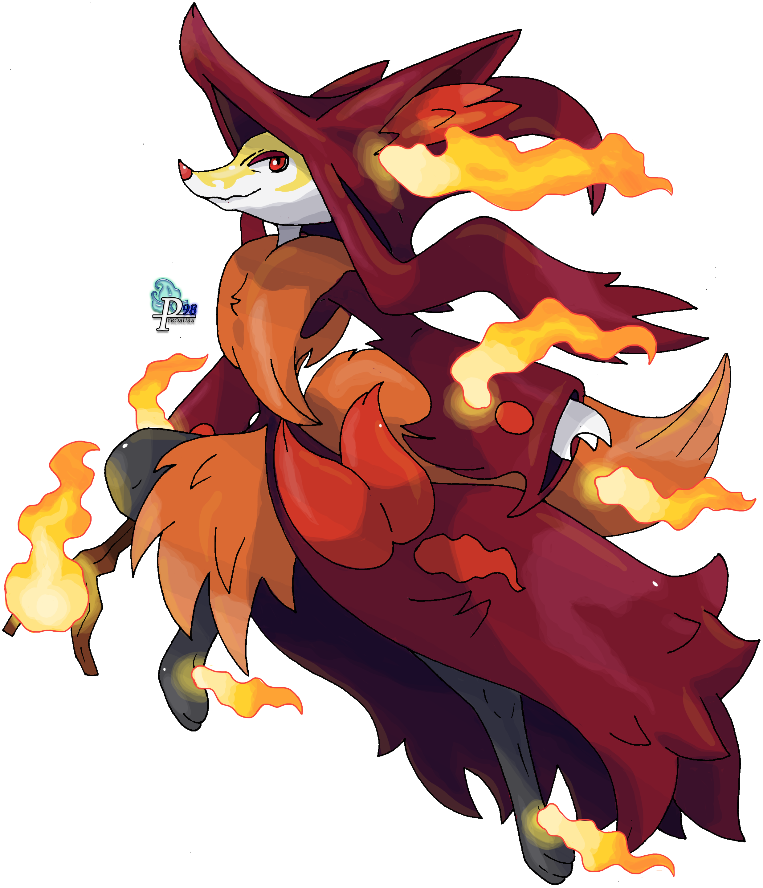 Delphox: Mega Evolution Species: Fox Pokémon Type: Fire ...