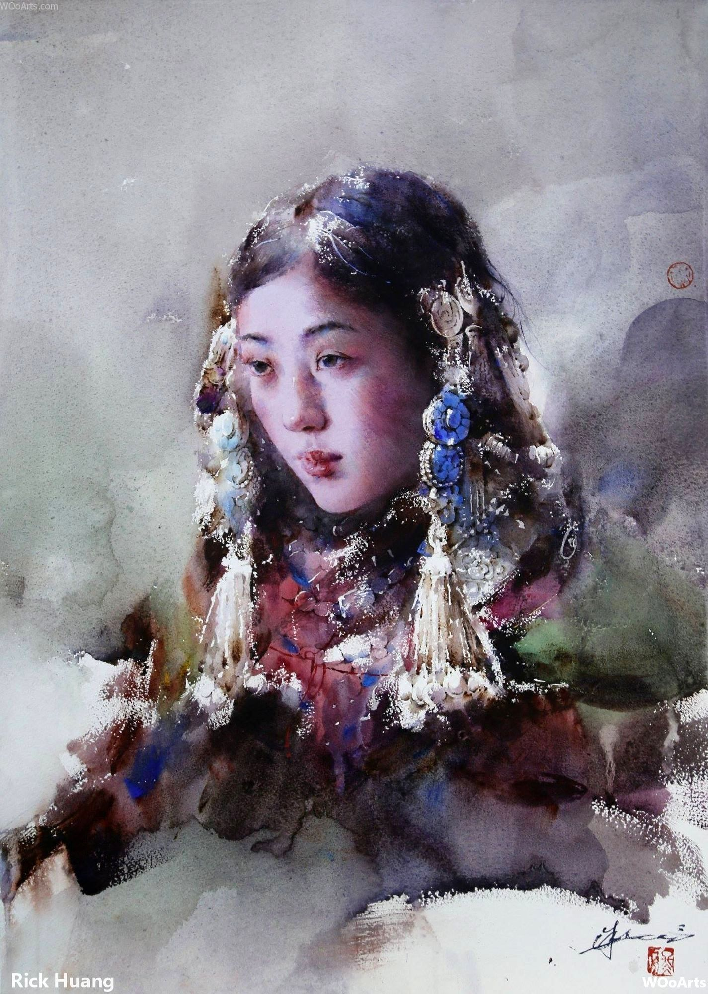 38 Sublime Watercolor Paintings By Chinese Artist Rick Huang