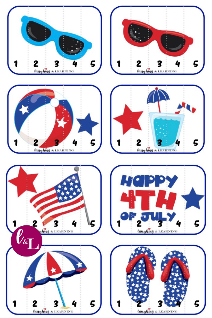 Free 4th Of July Printable Activities Laughing Learning Math Activities For Toddlers Printable Activities For Kids Printable Activities [ 1102 x 735 Pixel ]