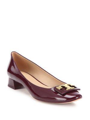 5a0ad01ca TORY BURCH Gigi Patent Leather Block-Heel Pumps.  toryburch  shoes  pumps