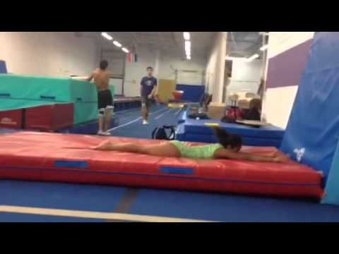 Moving from Handstand Flat Back to Front Handspring Vault - YouTube