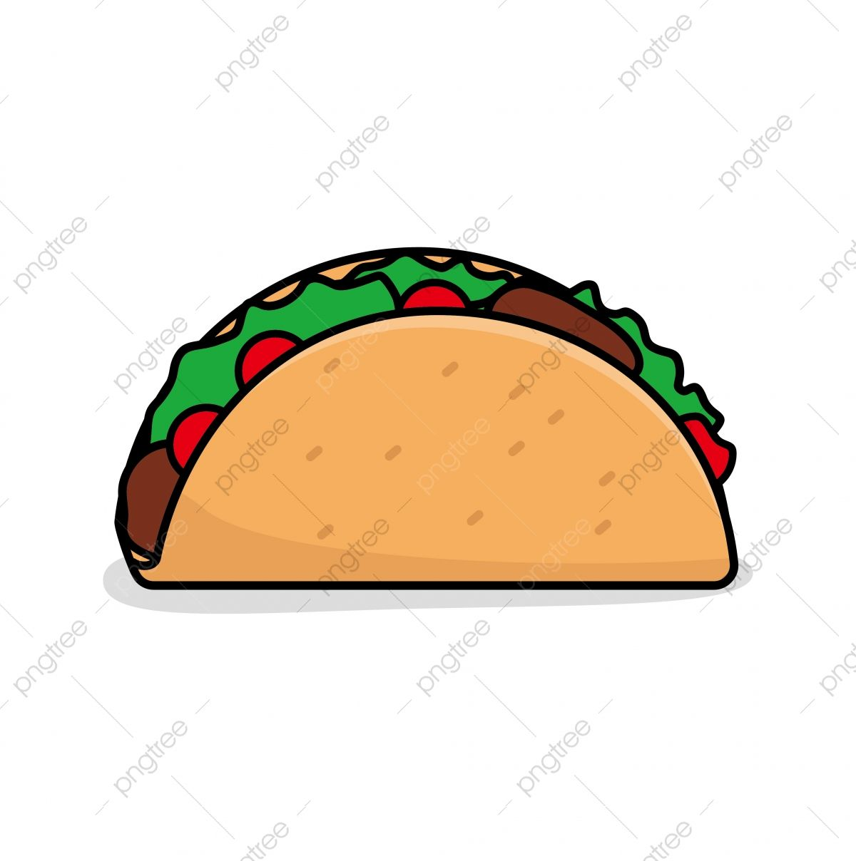 Taco Vector Illustration Isolated On White Background Taco Clip Art Food Clipart Mexican Food Food Png And Vector With Transparent Background For Free Downlo Clip Art Vector Illustration Pineapple Vector