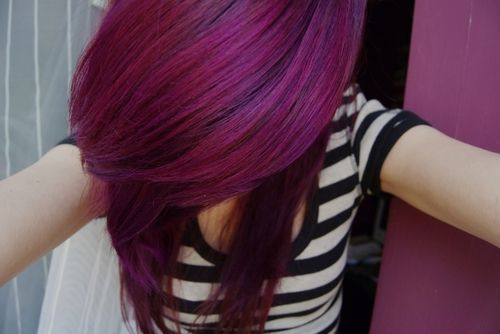 Dark Red Purple Hair Tumblr Dark purple hair tumblr - google ...
