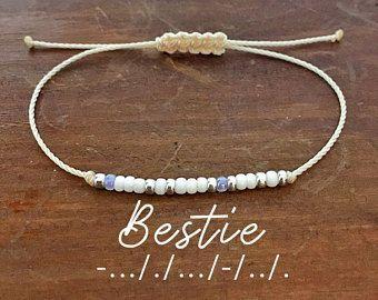 Diy Bracelets For Women Bestie Morse Code Bracelet Gift For Women Best Friend Gift Gift Fo In 2020 Heart Bracelet Diy Best Friend Bracelets Morse Code Bracelet