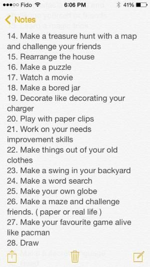 what to fo when you are bored
