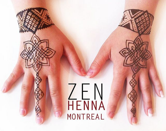 Henna Tattoo Montreal : Last bridal henna design top of the hands hennas