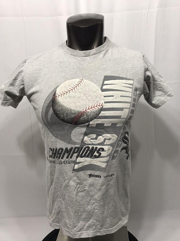 f206dbc6 Chicago White Sox VTG 90s 1993 Artex T-Shirt Mens M USA Made West Champions  #Artex #ChicagoWhiteSox