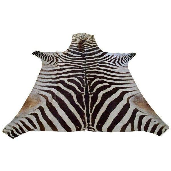 African Burchell Zebra Skin Rug 5 10 8 9 1 350 Liked On Polyvore Featuring Home Rugs Af Zebra Skin Rug Zebra Print Cowhide Rug Animal Print Carpet