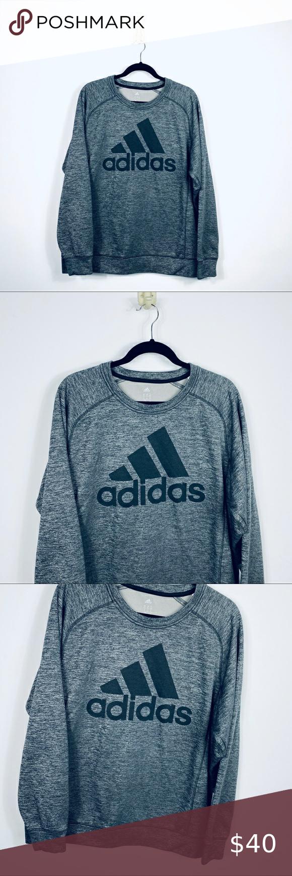 Adidas Xl Team Issue Fleece Crew Neck Sweatshirt Men S Adidas Xl Team Issue Fleece Crew Neck Sweatshirt Gray Crew Neck Sweatshirt Sweatshirts Sweatshirt Shirt [ 1740 x 580 Pixel ]