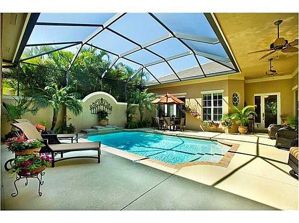 Vero Beach Home Pool House Plans Pool Houses Courtyard Pool