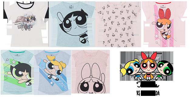 Camisetas meninas superpoderosas C&A