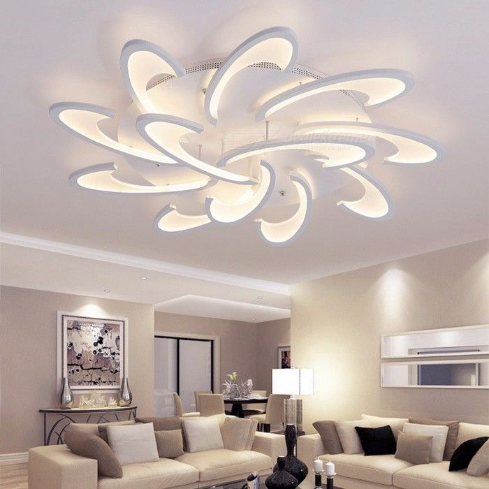 LICAN Modern LED Ceiling Chandelier Light White Black AC85-265V Chandeliers Fixtures For Living Room Bedroom Dining Study Room Warm White/6 heads White body images