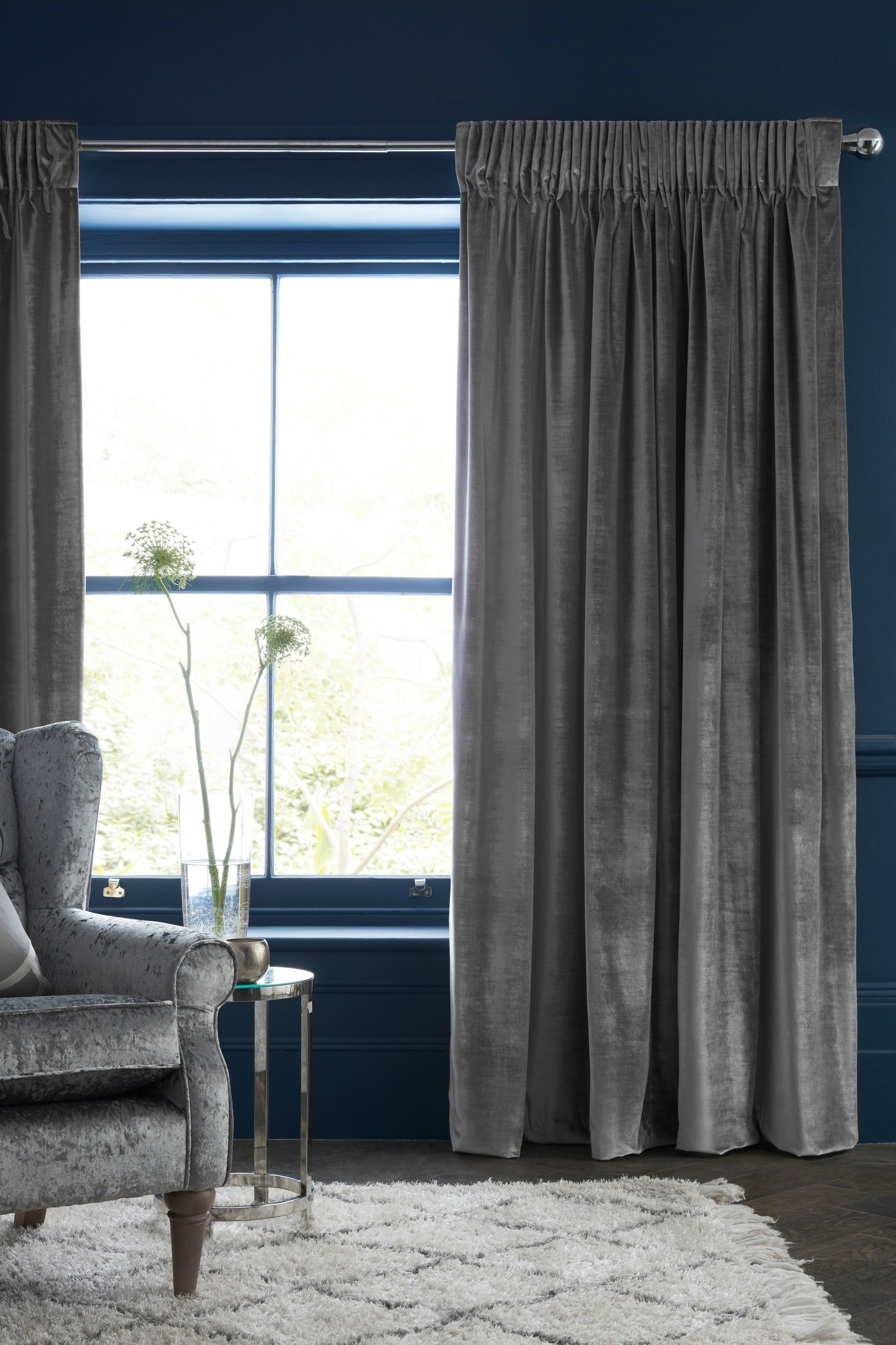 Buy Plush Velvet Heavyweight Curtains From The Next Uk Online Shop Curtains Pleated Curtains Pencil Pleat