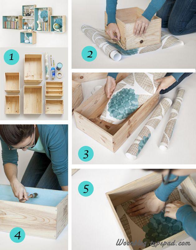 Diy c mo decorar muebles con papel pintado manualidades - Manualidades con muebles viejos ...
