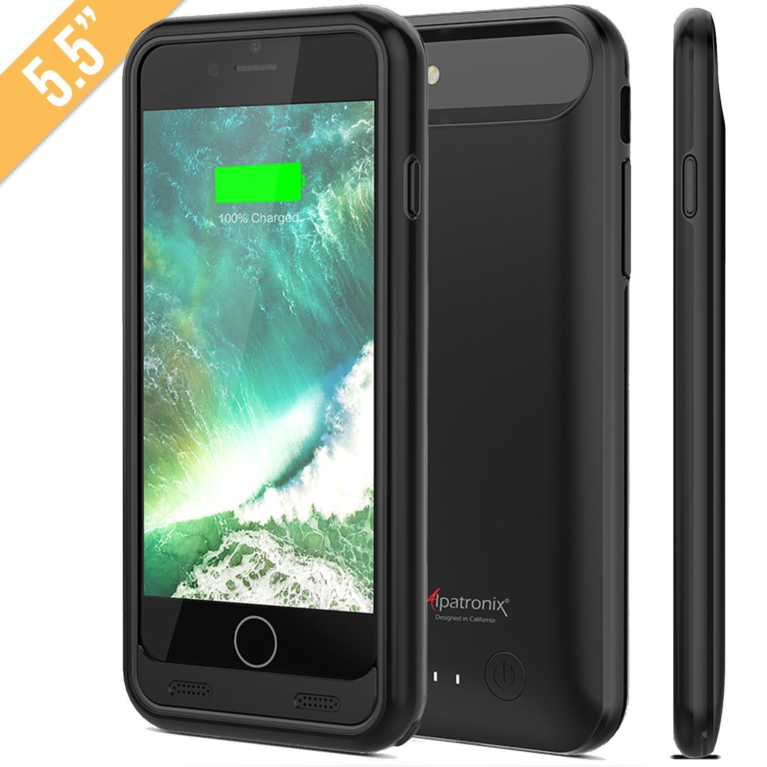 competitive price d3e5d 6468b iPhone 7 Plus battery case 4000mAh Ultra-Slim Removable 150% charge ...