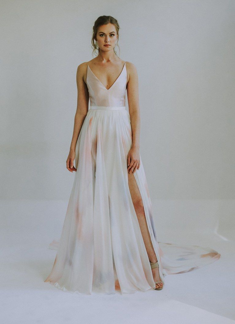 Leanne Marshall Bridal Spring 2020 Wedding Dress Trends Colored
