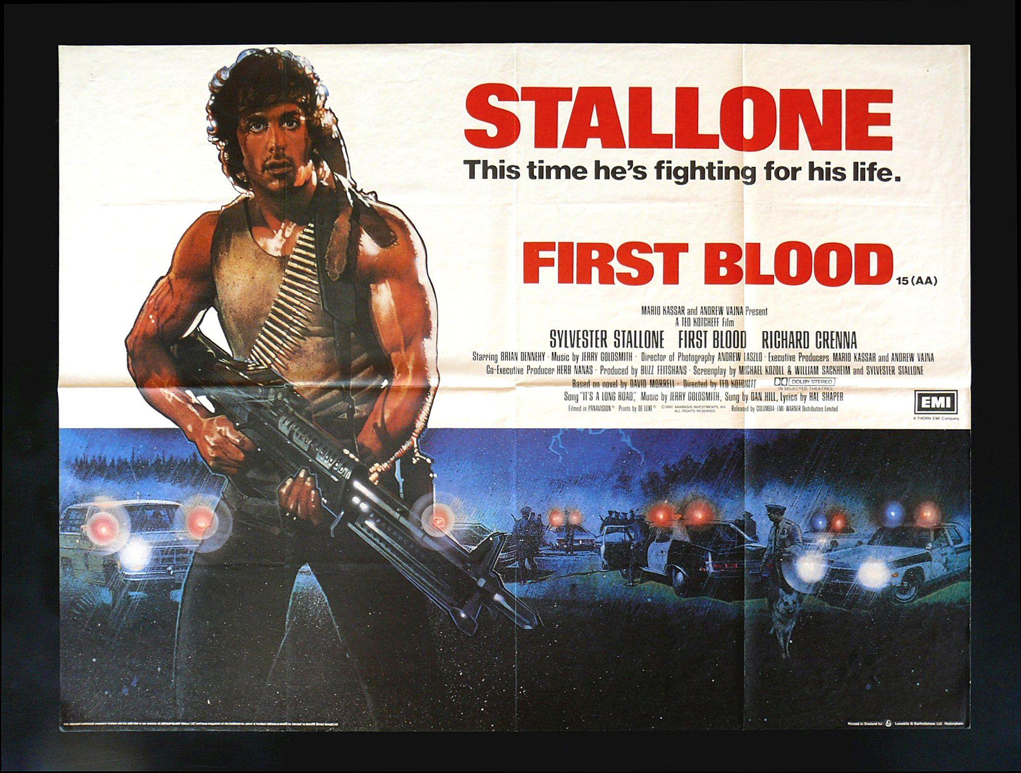 Details about FIRST BLOOD CineMasterpieces UK BRITISH QUAD