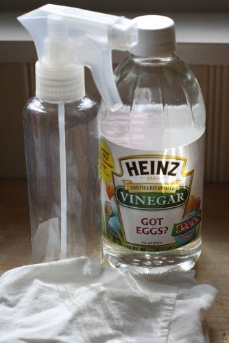 Spray Hard Water Stains With White Vinegar Let Sit For 5 10 Minutes Wipe Off With A Soft C Hard Water Stains Hard Water Stain Remover How To Clean Granite