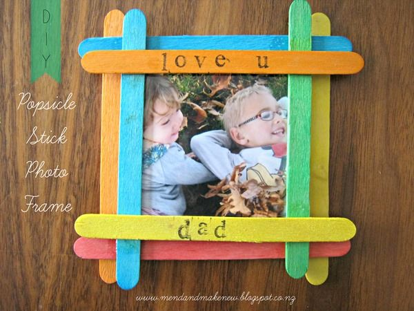 Mend and make new father s day craft gift ideas child for Designs using ice cream sticks