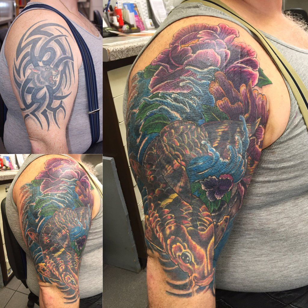 Big cover up big arm by on for Tattoo cover sleeve target