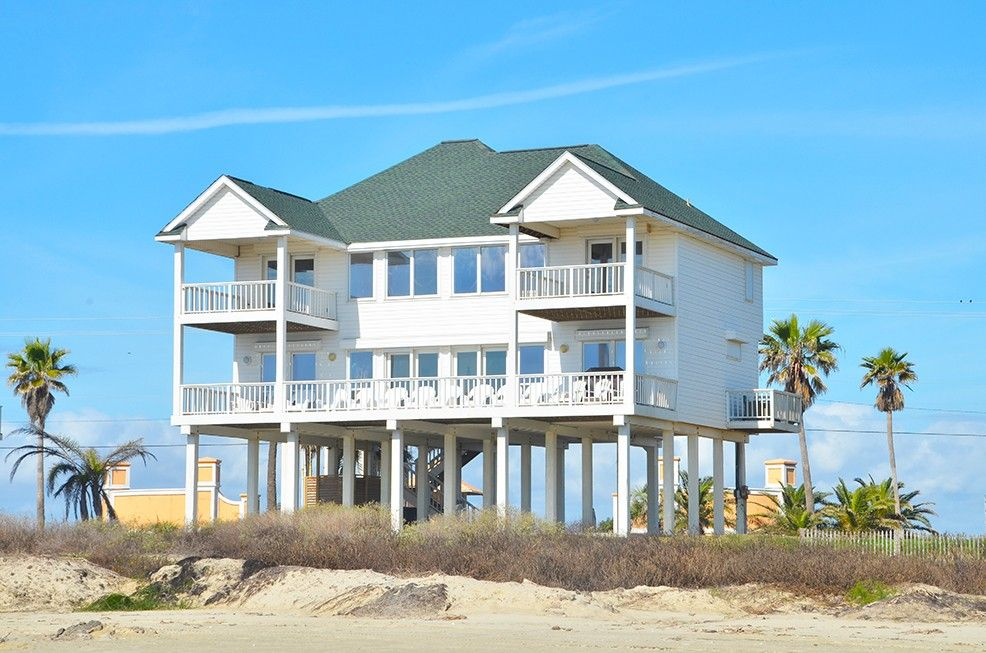 Beachfront House Close To Town 5 Bedrooms 3 King Beds Queenvacation Al In Galveston From