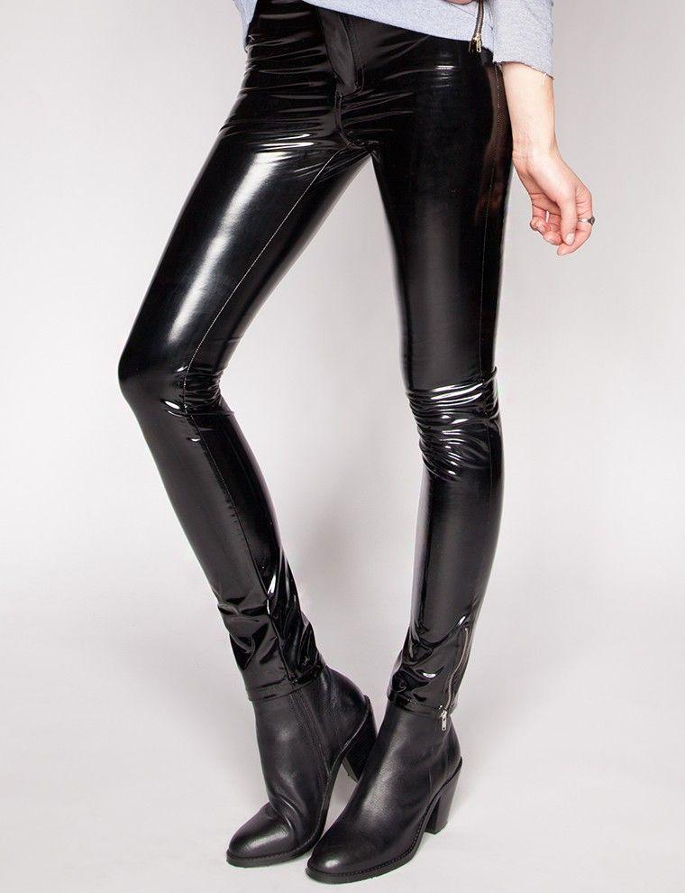 Patent skinny pants
