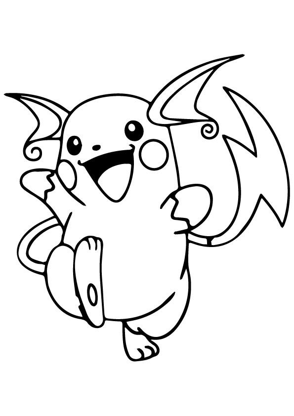 Raichu Pokemon Coloring Pages : raichu, pokemon, coloring, pages, Print, Coloring, Image, Pikachu, Page,, Pokemon, Sheets,