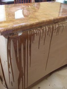 Painted Countertops Tutorial...mom, You Might Find This Interesting. Looks  Alot