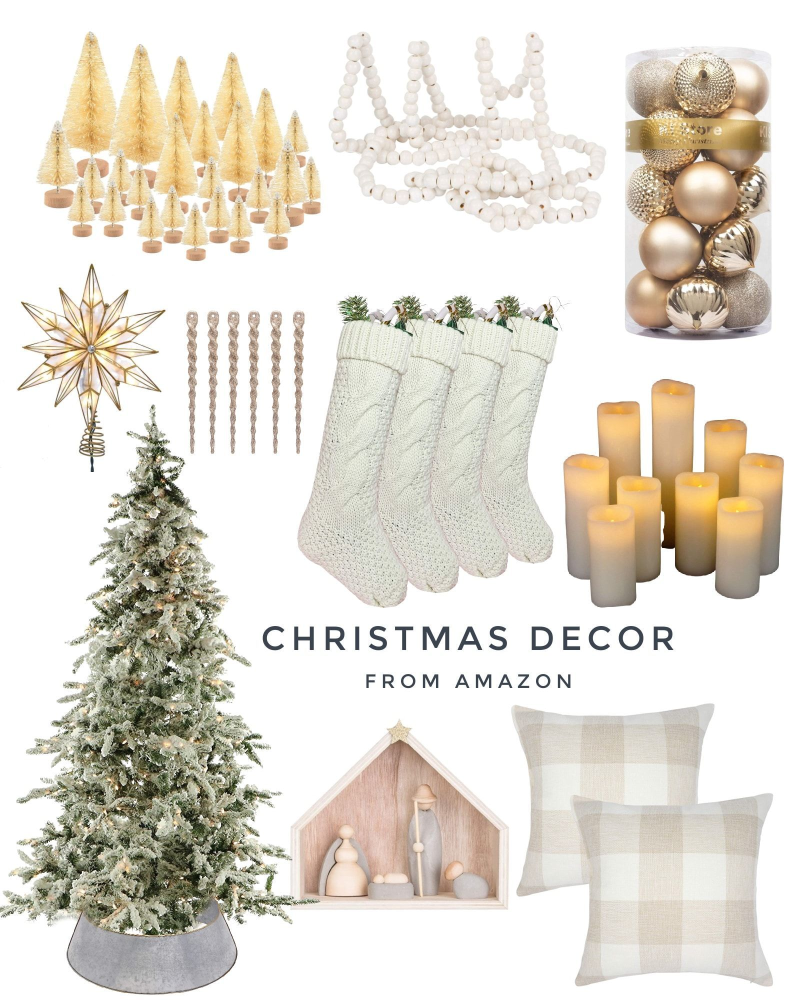 Amazon Christmas Decor In 2020 Amazon Christmas Decorations Neutral Christmas Decor Christmas Decorations