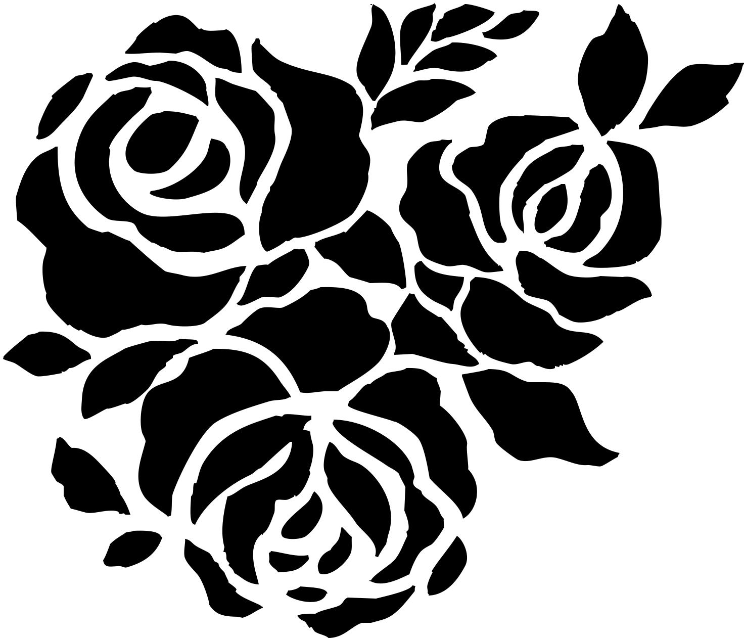 Картинки трафареты цветов для вырезания из бумаги