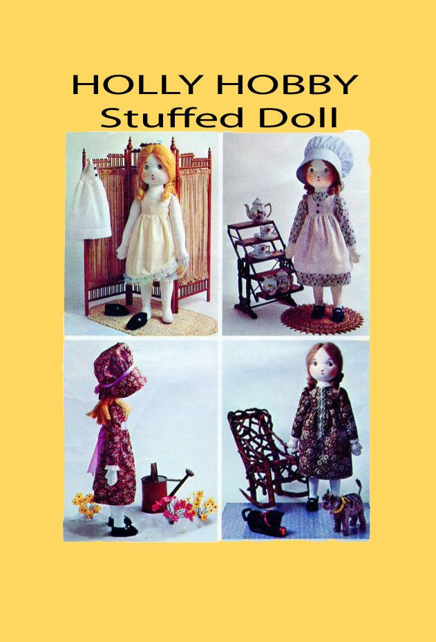 Simplicity 6606 UnCUT Soft Stuffed HOLLY HOBBY Rag Doll Sewing Pattern Doll, Dress, Pinafore, Shoes, Hair Instructions Vintage by FindCraftyPatterns on Etsy
