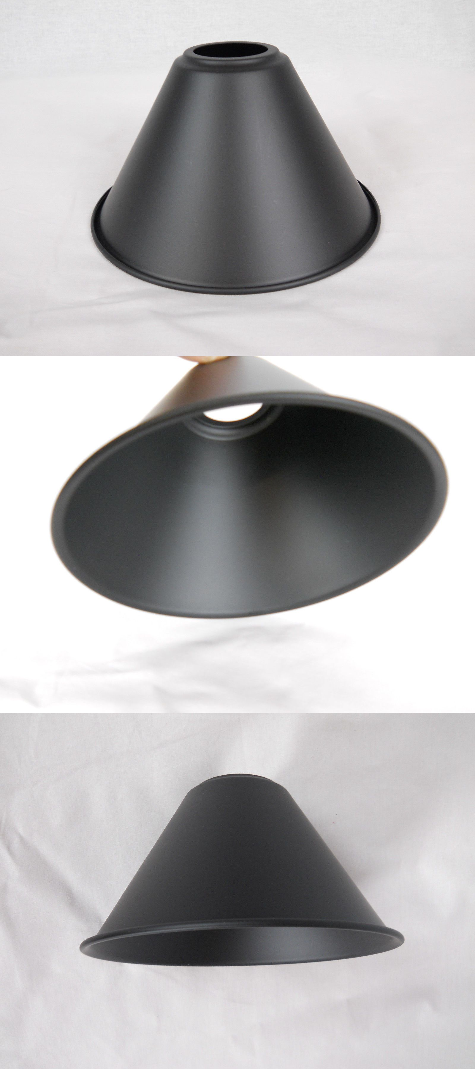 Lamp Shades 20708 Metal Shade Pendant Vintage Cone Design Black Powder Coat 7 Dia It Now Only 15 On Ebay