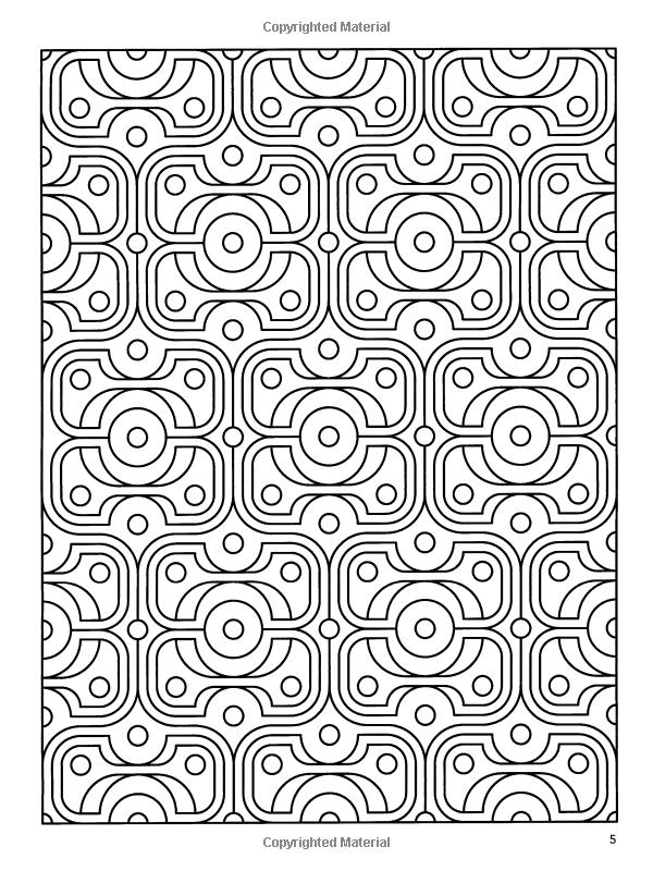 Deco tech geometric coloring book john wik coloring books for adults 0800759475469